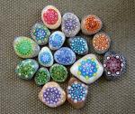 Mandalas sobre piedras - 3